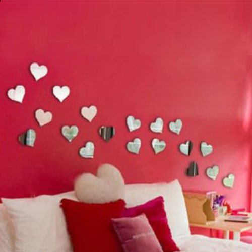 507c00c4ba Buy Naveed Arts - Valentine Hearts - Acrylic 3D Wall Decor For Home And  Office - Mirror Love Hearts - Jb1005M - Factory Outlet Online at Low Prices  in India ...