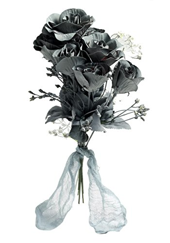 Forum Novelties Ghost Flower Boo-Quet, Black/Gray, One Size
