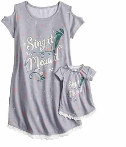 89155b7ced93 AME Fancy Nancy Dorm Bon Jour Nightgown    Doll Gown - Girls