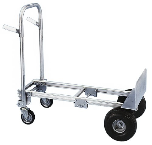 Milwaukee Hand Trucks 45136 Modular Aluminum Convertible Truck with Twin Pin Handle and 10-Inch Pneumatic Tires