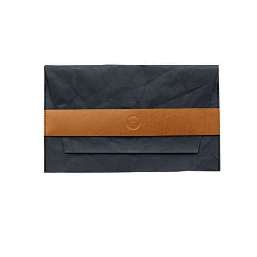 Papier Noir LOOK d'embrayage, gandle- MacBook en cuir Camel
