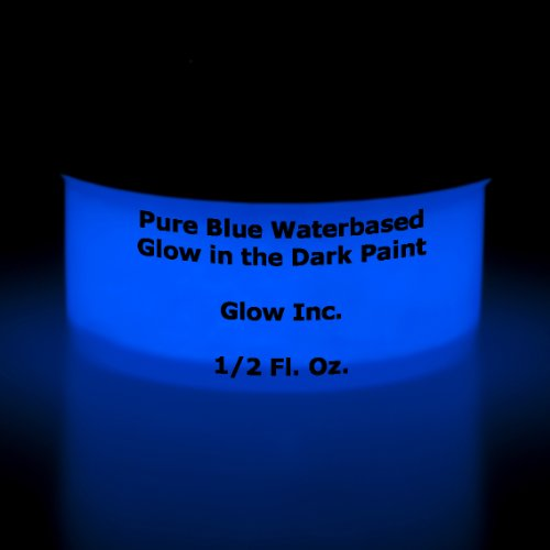 Pure Blue Glow in the dark paint 1/2 Fluid Oz]()