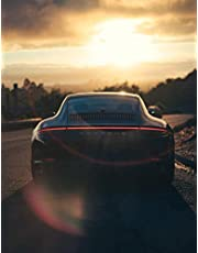 Black Porsche Carrera 911 Undated Quarterly Planner for Men: Custom interior to write in with to do lists, notes,log book, calendar. Perfect gift for birthday or any occasion