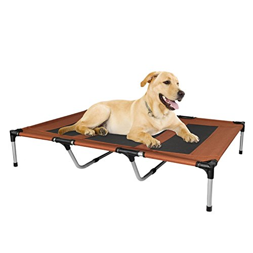 KOPEKS - Elevated Indoor Outdoor Portable Bed - Extra Large Size Brown ()