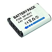 Remplacement NP-BX1 1240mah batería para Sony DSC-WX300 DSC-WX500 WX500 HX90V RX1 DSC-RX1, RX100, RX100 II , DSC-RX100 III RX100 III, HX300, WX300 Digital Cameras FDR-X1000VR FDR-X1000V HDR-AS200VT HDR-AS200VB HDR-AS200VR