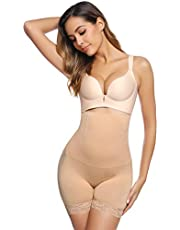 iClosam Damen Figurenformend Miederpants ShapePants Miederhose Shapewear Bauch Kontrolle Shaping Hose mit Bein Hohe Taille Taillenformer Shaper