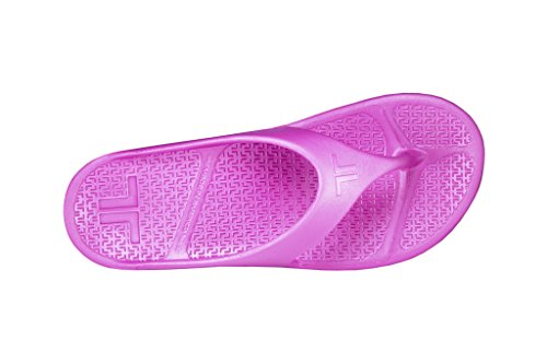 Telic Damenmode Flip Flop Sandale (Made in USA) Rosa Flamingo