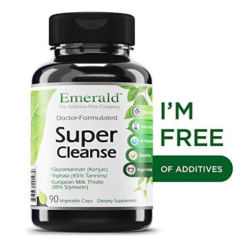 Super Cleanse - with Konjac Root, Triphala, European Milk Thistle & Psyllium Husk - Cleanse/Detoxify the Body, Supports Digestive System - Emerald Laboratories (Rainforest) - 90 Vegetable Capsules