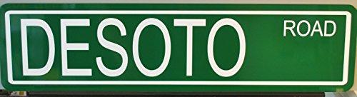 METAL STREET SIGN DESOTO ROAD