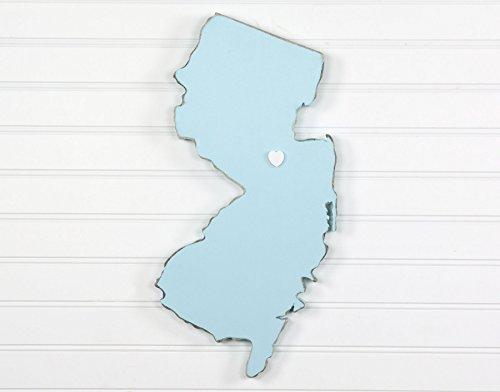 New Jersey State Shape Wood Cutout Sign Wall Art. 19