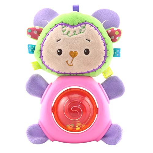 Smdoxi_toys Plush Toy Doll Pillow Hand Puppets Soft Toys Baby Toddler Toys Rattles Plush Rings Play Figures Baby Infant Rattles Plush Cute Animal Play Toys Doll Soft Bed BB Sound ()