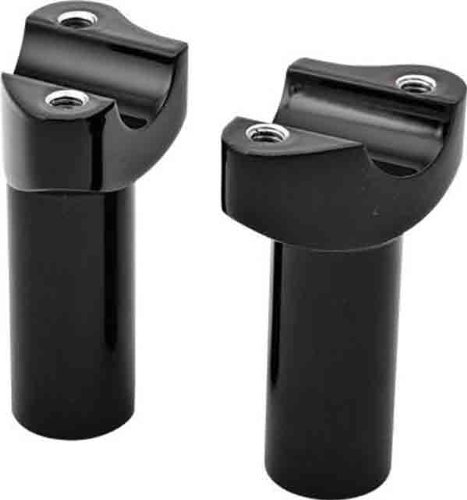Straight Risers (HardDrive Forged Black Straight Handlebar Risers with 5.5in. Rise for Harley Da - One)