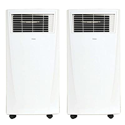 Haier Digital 8,000 BTU Portable Room Air Conditioner AC Unit w/ Remote (2 Pack)