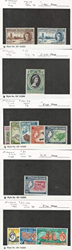 Pitcairn Islands, Postage Stamp, 9-10, 19, 31-4 Mint NH, 20-4 LH, JFZ