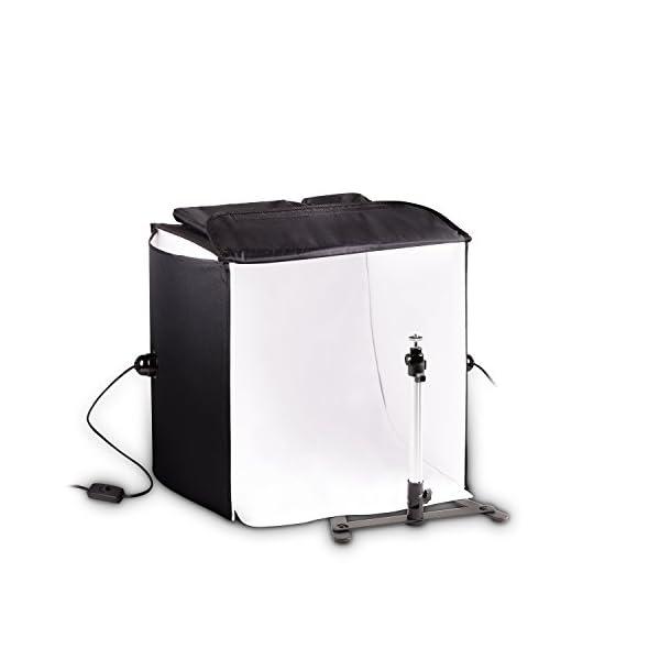 Mobile HAUSER & PICARD 200 Watt 40cm foto studio fotografico cubo luce con borsa e supporto per macchina fotografica… 1 spesavip