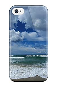 Quality Eric J Green Case Cover With Clouds And Beaches Nice Appearance Compatible With Iphone 4/4s