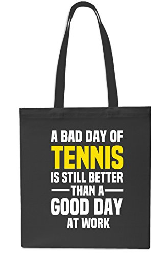 10 Shopping Tote 42cm Bag litres Still Good BLACK Gym At BLACK x38cm Than Better A Tennis Bad Of A Is Day Day Work Beach qRwR6F