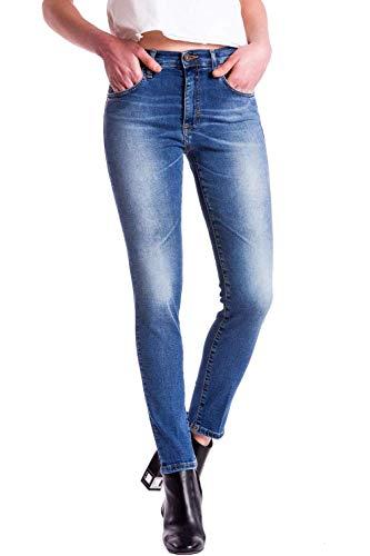 Denim Vita Meltin'pot Per uk426 Affusolato Donna Jeans Modello D0157 Blue Mareg Alta Skinny Vestibilità vwHvqpx7g