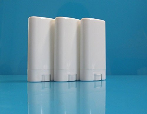 (Pack of 20 Deodorant Containers New & Empty Oval Lip Balm Tubes White)