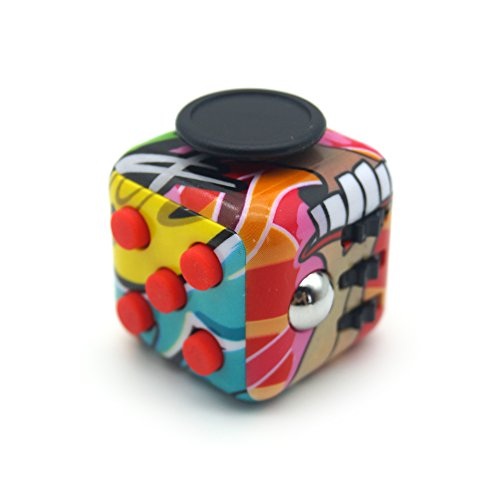 Office Games For Christmas - 2017 New Style Colorful Camo Fidget Toy Cube Office Desktop Stress Relief Anxiety Attention Autism ADHD Toy (Graffiti)