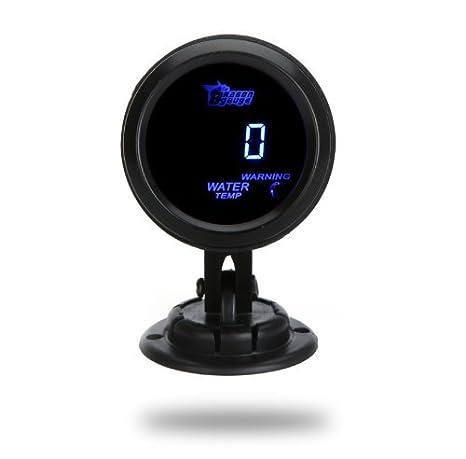 KKmoon 24-019-551 - Medidor Digital de Temperatura del Agua Medidor con Sensor 52mm 2 pulgadas LCD para Vehículos, Color Negro: Amazon.es: Coche y moto
