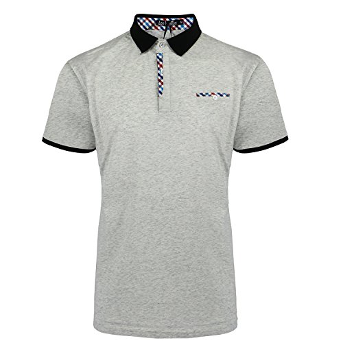 Basic Cotton Polo Shirts for Men Slim Fit Solid Color Short Sleeve Soft Fabric Shirt (XXL, Grey)