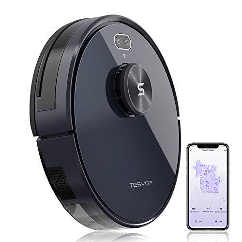 Robot Vacuum Cleaner - Tesvor S6+ 2700Pa Laser Navigation Robotic Vacuum for Pet Hair&Carpets&Hard Floors with 5200mAh Battery