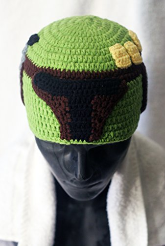 [Milk protein cotton yarn handmade baby Boba Fett hat - fits Teen and Adult Female] (Star Wars Boba Fett Girls Costumes)
