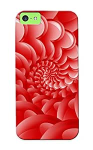 Illumineizl Tpu Case For Iphone 5c With Heart Spiral, Nice Case For Thanksgiving Day's Gift
