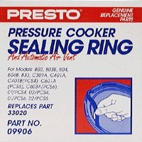 Presto 09906 Pressure Cooker Sealing Ring/Automatic Air Vent Pack (4 & 6 Quart)