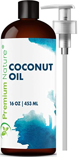 Fractionated Coconut Oil Massage Oils - Liquid MCT Natural & Pure Body Oil Carrier Massage Oil for Hair & Skin 16 Oz Clear Pump Included Premium Nature Packaging May Vary (Benefits Of Coconut Oil On Skin And Hair)