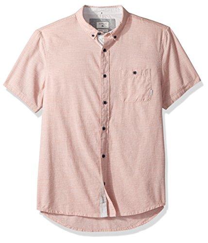 Quiksilver Men's Waterfalls Short Sleeve Button Down Shirt, Aragon, M