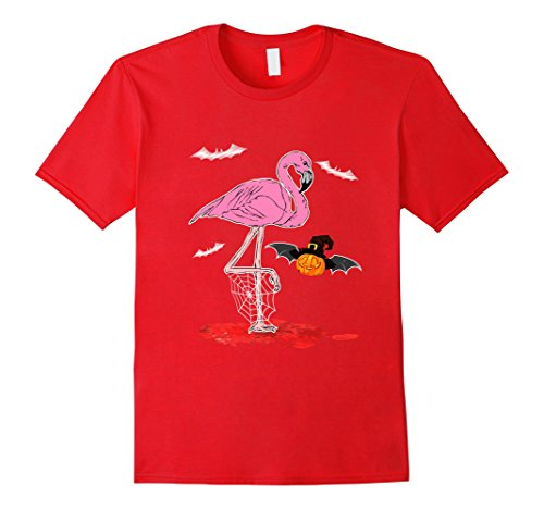 Mens Funny Flamingo Halloween Costume for Kids & Adults Small Red - One Leg Man Flamingo Costume