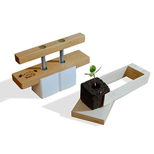Soil cube tool soil block maker for seed starting for Soil block maker