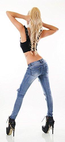 Jeans XXX faded Skinny Bleu Blue Noir Triple Femme Efq4wwgx