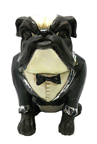 silver bulldog statue - 2