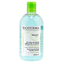Bioderma Sebium H2o' Facial Cleansing Products for Oily Skin, Mixed Skin/500ml. (Green)