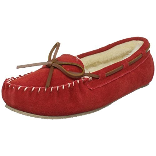 Tamarac by Slippers International 955205 Women's Molly Pile-Lined Moccasin,Red,8 M US