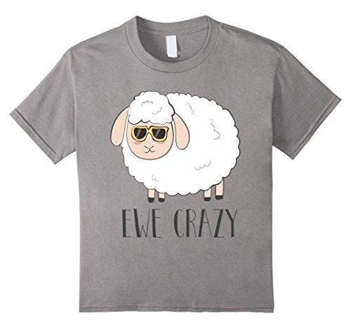 Kids Ewe Crazy Cool Cute Funny Sheep Wearing Sunglasses Shirt 6 - Loco Sunglasses