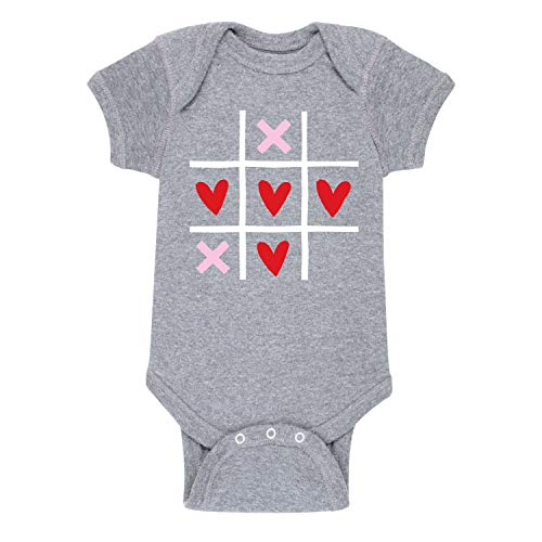 Tic Tac Toe - Valentine Love Infant One Piece -