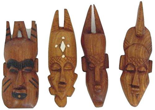 "7"" Miniature Mahogany Mask From Senegal"