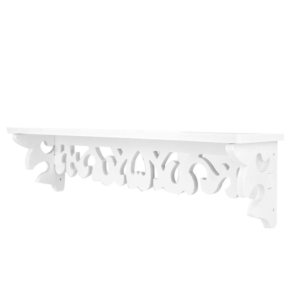 estante para tableros de madera montada en la pared Estante de la entrada Estante para estantes Estante para el ba/ño en el pasillo Sala de estar Cocina Perchero L blanco