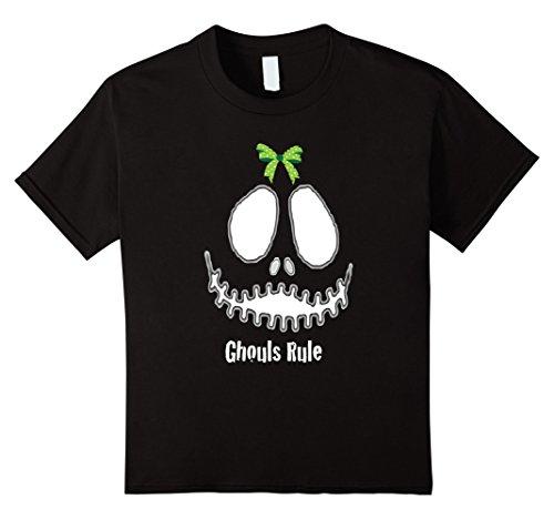 College Girls Halloween (Kids Fun Girls Halloween T Shirt Sweet Ghouls Rule Costume 10 Black)