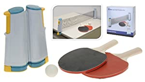 Tischtennis Starterset 2 Schläger 3 Bälle Ping-Pong-Set mit Netz