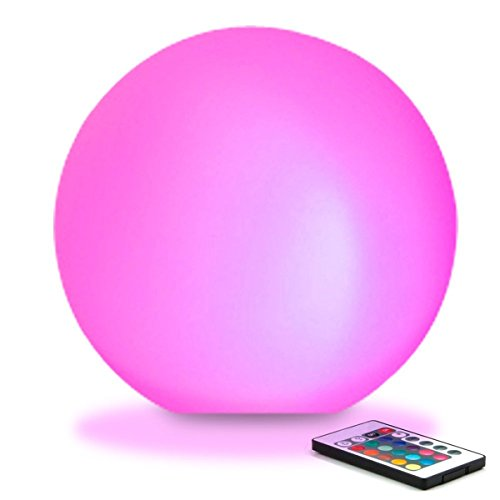 LED Pool Light Light Up Beach Ball 16 RGB Colors Floating Round Ball for Swim,Camping,Party,Pool,Patio,Christmas,Halloween Decoration,Waterproof Color Changing Ball 5.9-Inch Sphere Brand CGN