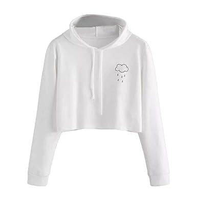 61ee04d60b3 SEWORLD Women Long Sleeve Casual Hooded Sweatshirt Pullover Top Blouse   Amazon.co.uk  Clothing