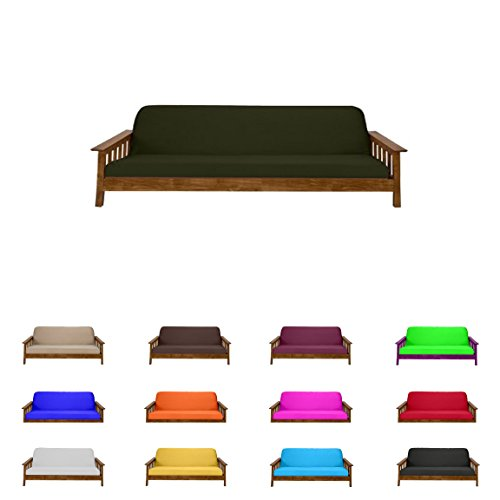 (Futon Mattress Cover Solid Color Choose Color and Size Twin Full Queen (Queen (6