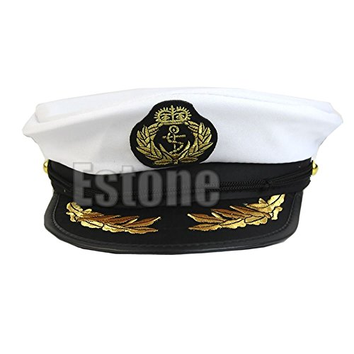 Yumian Unisex White Sailor Hat Adult Costume Party Cosplay Dress Captain Navy Cap