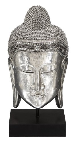 Statue Head Buddha Ceramic (Deco 79 Polystone Buddha Head, 19 by 10-Inch)