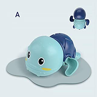 Adealink Baby Bath Toy Cute Cartoon Floating Swimming Turtles Water Toy for Kids Boys Girls